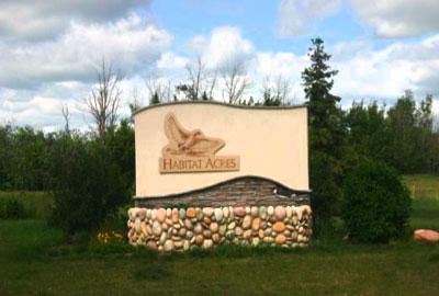 Habitat acres - signage